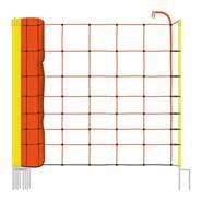 Filet de clôture électrique de VOSS.farming, 50 m, filet pour ovins, 90 cm, 2 pointes, orange