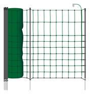 Filet pour petits animaux de VOSS.PET 50 m, 65 cm, fil vert, avec 1 pointe