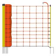 Filet de clôture électrique de VOSS.farming, 50 m, Euro, 108 cm, 2 pointes, piquets jaunes