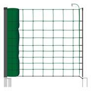 Clôture pour les ovins, filet pour ovins, clôture pour les caprins classic  de VOSS.farming 50 m, 108 cm, 14 piquets, 2 pointes, vert