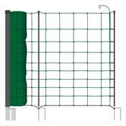 Clôture pour les ovins, filet pour ovins, clôture pour les caprins classic+  de VOSS.farming 50 m, 108 cm, 20 piquets, 2 pointes, vert