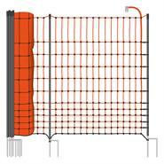 """Filet de clôture premium pour les volailles """"classic+ """" de VOSS.farming, 50 m, 112 cm, 20 piquets, 2 pointes"""