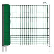 Clôture pour les poules, clôture pour les volailles, filet pour les volailles classic de VOSS.farming 50 m, 112 cm, 16 piquets, 2 pointes, vert