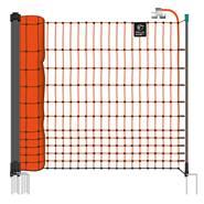 Filet électrifiable farmNET pour volailles, 50 m, de VOSS.farming, 112 cm, 16 piquets, 2 pointes, orange
