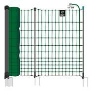 Filet électrifiable farmNET+ pour volailles, 50 m, de VOSS.farming, 112 cm, 20 piquets, 2 pointes, vert