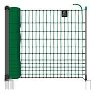 Filet non électrifiable farmNET pour volailles, 50 m, de VOSS.farming, 112 cm, 16 piquets, 2 pointes, vert