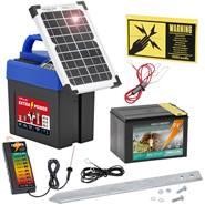 """Electrificateur 9 V """"Extra Power 9V SOLAR"""" VOSS.farming avec batterie + testeur de clôture"""