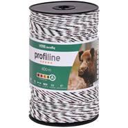 Fil de clôture électrique de VOSS.farming 400 m, 3 x 0,25 cuivre + 3 x 0,20 acier inoxydable, blanc-noir
