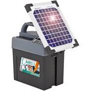 """Electrificateur """"AURES 3 SOLAR"""" de VOSS.farming + batterie + panneau solaire 6 W"""