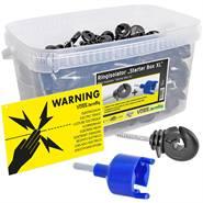 """""""Starter Box XL"""" de VOSS.farming - 260 x isolateurs annulaires + visseur + panneau de signalisation"""