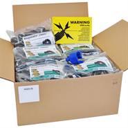Kit VOSS.farming - 500 x isolateurs annulaires + visseur + plaque d'avertissement