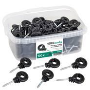 100 x isolateurs annulaires de VOSS.farming dans une boîte en plastique