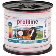 Ruban de clôture électrique VOSS.farming 200 m, 40 mm, 1 x 0,3 cuivre + 9 x 0,2 acier inoxydable, blanc-rouge 3***
