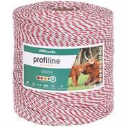 Fil de clôture VOSS.farming, 1 000 m, 1 x 0,25 cuivre + 8 x 0,20 inox, blanc-rouge 4****