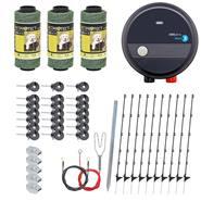 Kit complet de clôture pour chats et chiens de VOSS.PET - clôture électrique + électrificateur 230 V