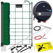 Kit complet de clôture pour chiens et chats de VOSS.PET - filet électrique, clôture électrique 50 m/108 cm avec électrificateur 230 V