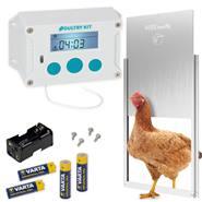 Kit : Portier automatique Poultry Kit VOSS.farming avec trappe 300 x 400 mm