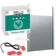 Kit : Dispositif automatique porte de poulailler VOSS.farming avec trappe en alu 220 x 330 mm