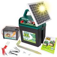 """Électrificateur 9 V """"POWER XXL B 9000-S"""" + panneau solaire de 5W + pile"""