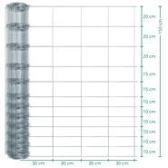 Clôture de protection Premium animaux sauvages VOSS.farming, 50 m, fil grillagé, hauteur 150 cm - 150/12/30
