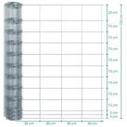 Clôture de protection Classic animaux sauvages VOSS.farming, 50 m, fil grillagé, hauteur 150 cm - 150/12/30