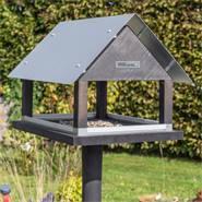 """Maison pour oiseaux """"Paris"""", design danois, hauteur totale env. 116cm, avec support en bois"""