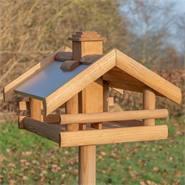 """Maison pour oiseaux """"Grota"""" de VOSS.garden - maison de qualité en bois, avec support"""