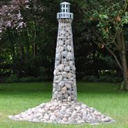 Phare de VOSS.garden 180 cm, galvanisé, décoration pour le jardin