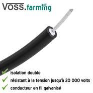 10/m de c/âble /électrique de terre 6/mm Double pour fours et plaques