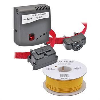 """Lot malin: Clôture invisible pour les chiens """"Radio Fence (PRF-3004W)"""" de PetSafe + récepteur supplémentaire + 152 m de fil antenne B-100"""