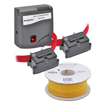 """Lot malin : Clôture invisible pour les chiens """"Radio Fence Super (PRF-3004XW)"""" de PetSafe + récepteur supplémentaire grand format + 304 m de fil antenne B-100"""