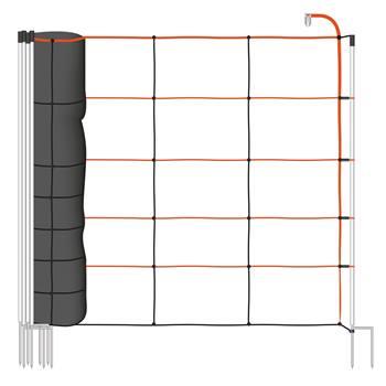 Filet pour ovins TitanLight Net 50 m, VOSS.farming, filet électrifiable, 108 cm, 14 piquets, 2 pointes