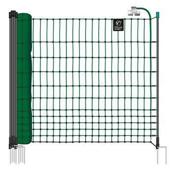 Filet électrifiable farmNET pour volailles, 15 m, de VOSS.farming, 112 cm, 6 piquets, 2 pointes, vert