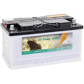 """Batterie """"12V Power 120Ah"""" de VOSS.farming pour électrificateurs de clôture électrique (fournie sans acide)"""