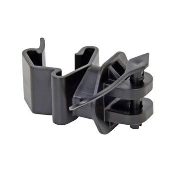 """25 x isolateurs """"Pinlock"""" pour piquet en T VOSS.farming, noir"""