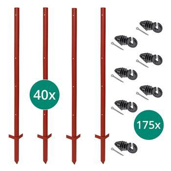 42296-1-kit-voss-farming-40-piquets-dangle-en-acier-115-cm-175-isolateurs-annulaires-avec-goupille.j