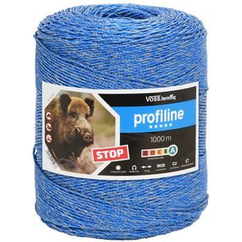 Fil de clôture électrique, 1000 m,  pour la protection contre le gibier, VOSS.farming, 3 x 0,25 cuivre + 3 x 0,25 inox, bleu