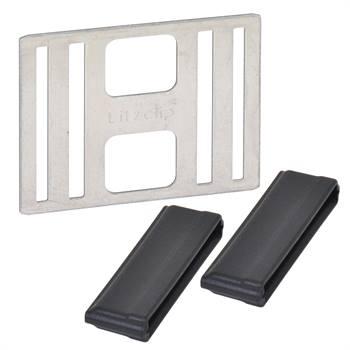"""5 x connecteurs """"Litzclip®"""" pour rubans de clôture électrique de 40 mm (inox)"""