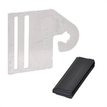 """4 x connecteurs de poignée de portail """"Litzclip®"""" pour rubans de clôture électrique de 40 mm (inox)"""
