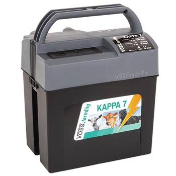 Électrificateur multifonctions de clôture électrique «KAPPA 7» de VOSS.farming pour 9 V, 12 V et 230 V