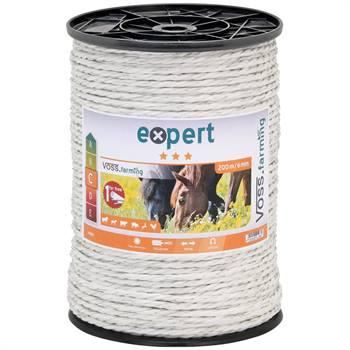 Cordelette pour clôture électrique 200 m, env. 5-6 mm, 7 x 0,20 acier inoxydable, blanc