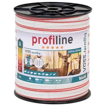 Ruban de clôture électrique 200 m, 20 mm, 1 x 0,3 cuivre + 5x0,2 acier inoxydable, blanc-rouge 3***