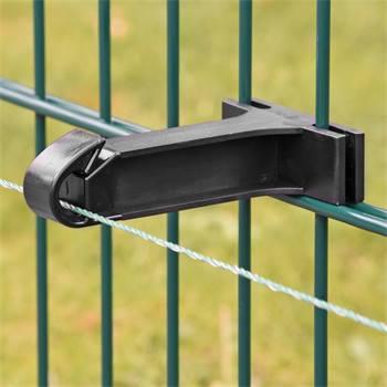 Isolateur «IDU-100» pour grille de clôture à double barreau, clôture industrielle