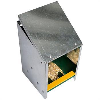 560035-1-distributeur-automatique-de-nourriture-pour-volaille-avec-couvercle-incline-galvanise-2-5-k