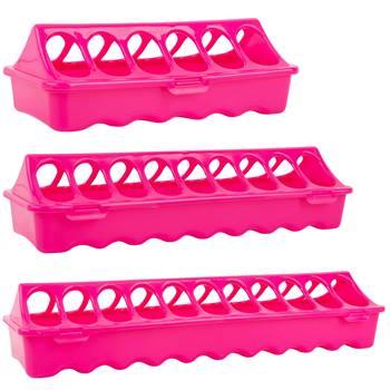 Mangeoire linéaire pour volaille GAUN, pink