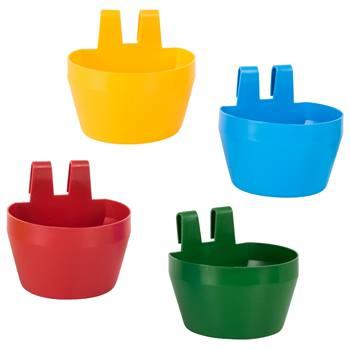 Gobelets pour volaille 300 ml pour cages d'exposition (rouge, bleue, jaune, verte)