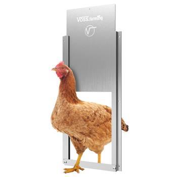 Kit de porte à clapet pour volailles - porte coulissante pour clapet automatique, en alu 220 x 330mm