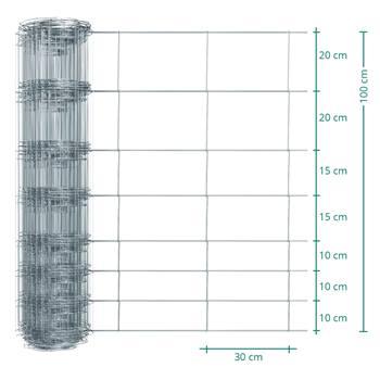 Clôture de protection Premium Plus animaux sauvages VOSS.farming, 50 m, fil grillagé, hauteur 100 cm - 100/08/30