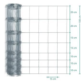Clôture de protection Premium Plus animaux sauvages VOSS.farming, 50 m, fil grillagé, hauteur 100 cm - 100/08/15