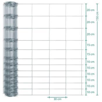 Clôture de protection Premium Plus animaux sauvages VOSS.farming, 50 m, fil grillagé, hauteur 150 cm - 150/12/30